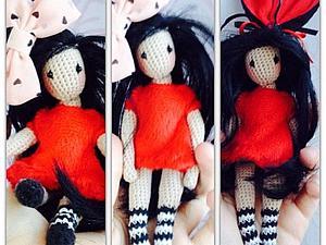 Вяжем куклу Льюис по мотивам работ Сьюзен Вулкотт. Ярмарка Мастеров - ручная работа, handmade.