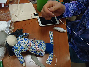 Отчёт  мастер - класса  по куклам