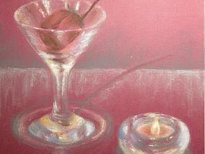 Рисование пастелью стеклянных предметов. Ярмарка Мастеров - ручная работа, handmade.