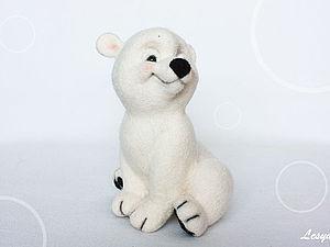 Мастер-класс по валянию медвежонка Снежка. Ярмарка Мастеров - ручная работа, handmade.