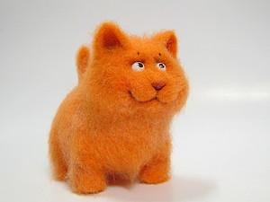 Котенок Мандаринчик | Ярмарка Мастеров - ручная работа, handmade