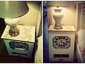 Прикроватный столик из настенных часов | Ярмарка Мастеров - ручная работа, handmade