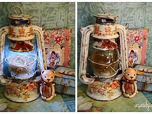 SUPERSALE - 30% off Ночной фонарь в сердце которого спит медвежонок. | Ярмарка Мастеров - ручная работа, handmade