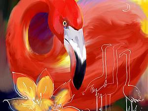 Фламинго | Ярмарка Мастеров - ручная работа, handmade