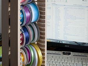 Делаем систему хранения тесьмы из подставки под диски | Ярмарка Мастеров - ручная работа, handmade