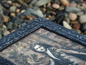 Имитация серебряной чеканки, шкатулка «Ангел». Ярмарка Мастеров - ручная работа, handmade.