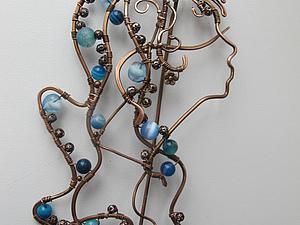 Создаем булавку «Водолей» в технике wire work. Ярмарка Мастеров - ручная работа, handmade.