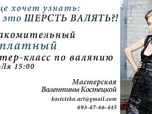 Бесплатный ознакомительный МК. Валяние. Киев. 13 июЛя. | Ярмарка Мастеров - ручная работа, handmade