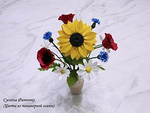 (Видео) Букет полевых цветов из полимерной глины. Ручная работа   Ярмарка Мастеров - ручная работа, handmade