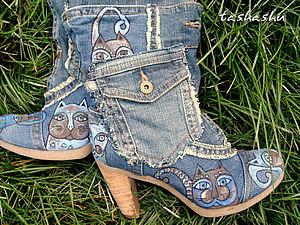 Апгрейд сапог, или безотходная джинса.. Ярмарка Мастеров - ручная работа, handmade.