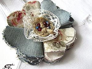 Создаем брошь из ткани. Ярмарка Мастеров - ручная работа, handmade.