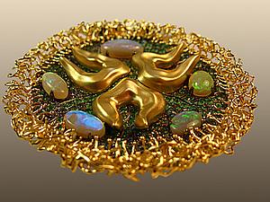 Золотой подвес Медуза (видео) | Ярмарка Мастеров - ручная работа, handmade