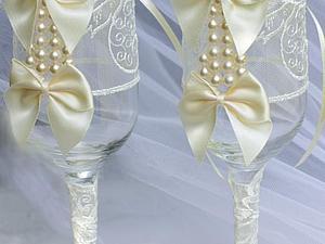 Секреты свадебных бокалов | Ярмарка Мастеров - ручная работа, handmade