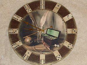 """Мастер-класс по декупажу часов """"Время домино"""". Ярмарка Мастеров - ручная работа, handmade."""