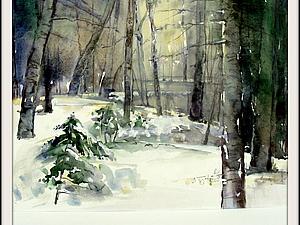 Зима в акварели | Ярмарка Мастеров - ручная работа, handmade