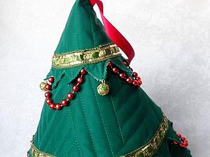 Делаем текстильную ёлочку «Вечерний звон» — для теплой атмосферы в морозную зиму. Ярмарка Мастеров - ручная работа, handmade.