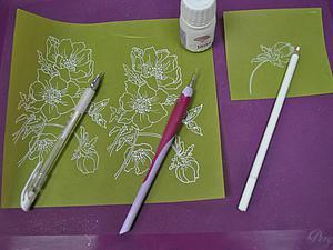 Нанесение контуров в технике парчмент-крафт. | Ярмарка Мастеров - ручная работа, handmade