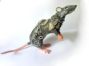 Лепим крысу из бархатного пластика. Ярмарка Мастеров - ручная работа, handmade.