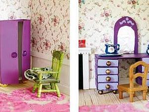 Мебель для куклы из бумаги своими руками