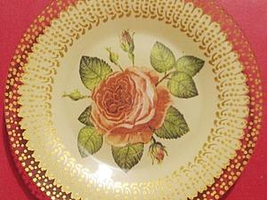 Тарелочки ажурные в технике обратный декупаж. Ярмарка Мастеров - ручная работа, handmade.