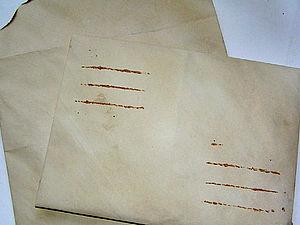 Делаем «старый  конверт». Ярмарка Мастеров - ручная работа, handmade.