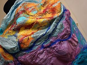 Нуновойлок. Палантин на шелке. | Ярмарка Мастеров - ручная работа, handmade