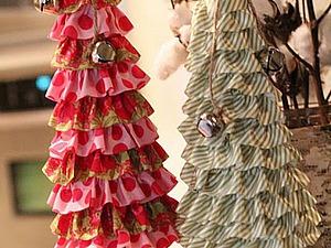 Новогодние елочки: идеи оформления из ткани   Ярмарка Мастеров - ручная работа, handmade
