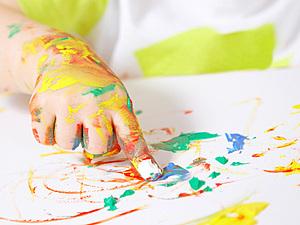 Мастер-класс для маленьких художников и мам.Рисуем пальчиками:) | Ярмарка Мастеров - ручная работа, handmade