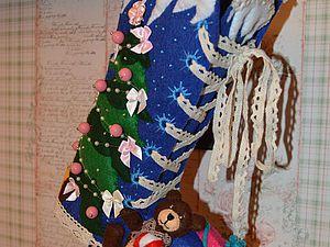 Делаем из фетра рождественский сапог для подарков. Ярмарка Мастеров - ручная работа, handmade.