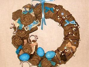 Создем оригинальный пасхальный венок. Ярмарка Мастеров - ручная работа, handmade.