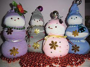 Снеговички для детишек — легко и просто. Ярмарка Мастеров - ручная работа, handmade.