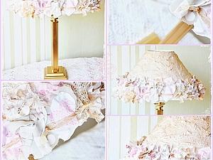 Декорируем абажур салфетками и тканью. | Ярмарка Мастеров - ручная работа, handmade
