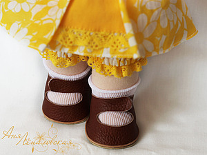 Шьем обувь для вальдорфской куклы. Ярмарка Мастеров - ручная работа, handmade.