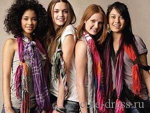 Как красиво завязать шарф, палантин, платок | Ярмарка Мастеров - ручная работа, handmade