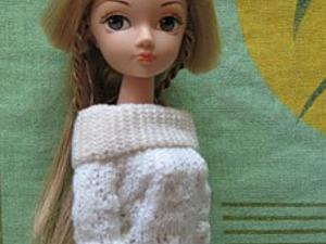 Как просто сделать «вязаное» платье для куклы. Ярмарка Мастеров - ручная работа, handmade.