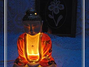 Статуэтка Будда не только для аромотерапии, а еще прекрасный светильник...   Ярмарка Мастеров - ручная работа, handmade