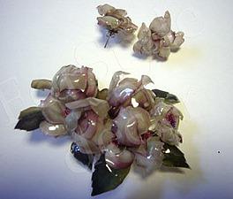 Мастер-класс по объемному декупажу: делаем набор украшений «Ветка розы». Ярмарка Мастеров - ручная работа, handmade.