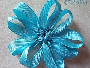 Плетеный из лент цветок | Ярмарка Мастеров - ручная работа, handmade