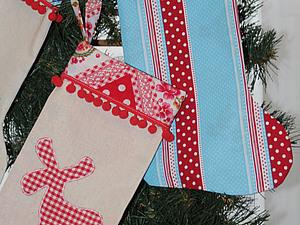 Новогодний сапожок для подарков | Ярмарка Мастеров - ручная работа, handmade