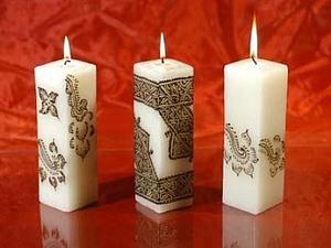 Декор свечи. Демонстрационный мастер-класс | Ярмарка Мастеров - ручная работа, handmade