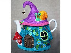 Вяжем грелку на чайник «Сказочный домик». Часть 1. Ярмарка Мастеров - ручная работа, handmade.