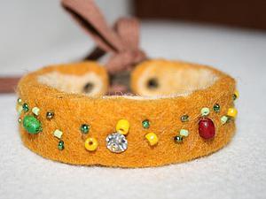 Как просто сделать браслет из остатков шерсти. Ярмарка Мастеров - ручная работа, handmade.