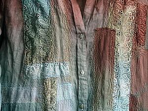 Как «уделать» новую рубашку: эксперимент в стиле боро. Ярмарка Мастеров - ручная работа, handmade.