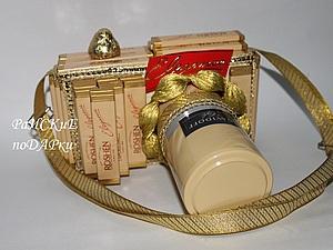 """Мастер-класс """"Фотоаппарат из шоколада и кофе"""". Ярмарка Мастеров - ручная работа, handmade."""