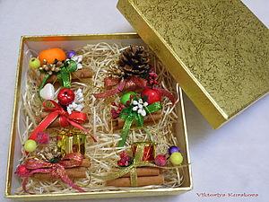 Ароматные елочные украшения , handmade