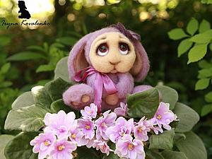 Как свалять зайчонка – хранителя цветов. Ярмарка Мастеров - ручная работа, handmade.