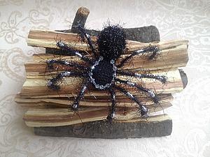Любителям пауков посвящается: делаем оригинальную брошь. Ярмарка Мастеров - ручная работа, handmade.