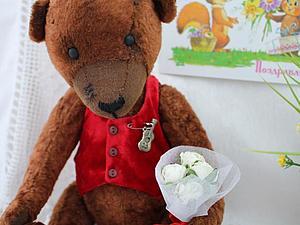 Мишка в подарок на 8 марта!!! | Ярмарка Мастеров - ручная работа, handmade
