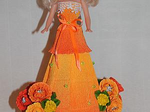 Платье из конфет и бумаги