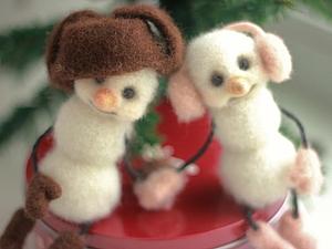 Снеговики-снегири | Ярмарка Мастеров - ручная работа, handmade